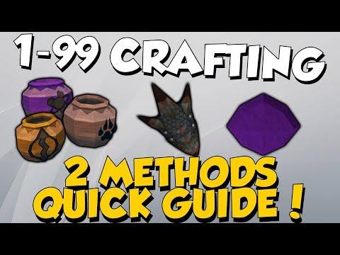 1-99 Crafting Quick Guide! 2 Methods [Runescape 3] Profitable & Fast!