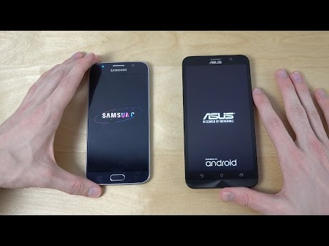 Samsung Galaxy S6 vs. ASUS ZenFone 2 - Which Is Faster? (4K)