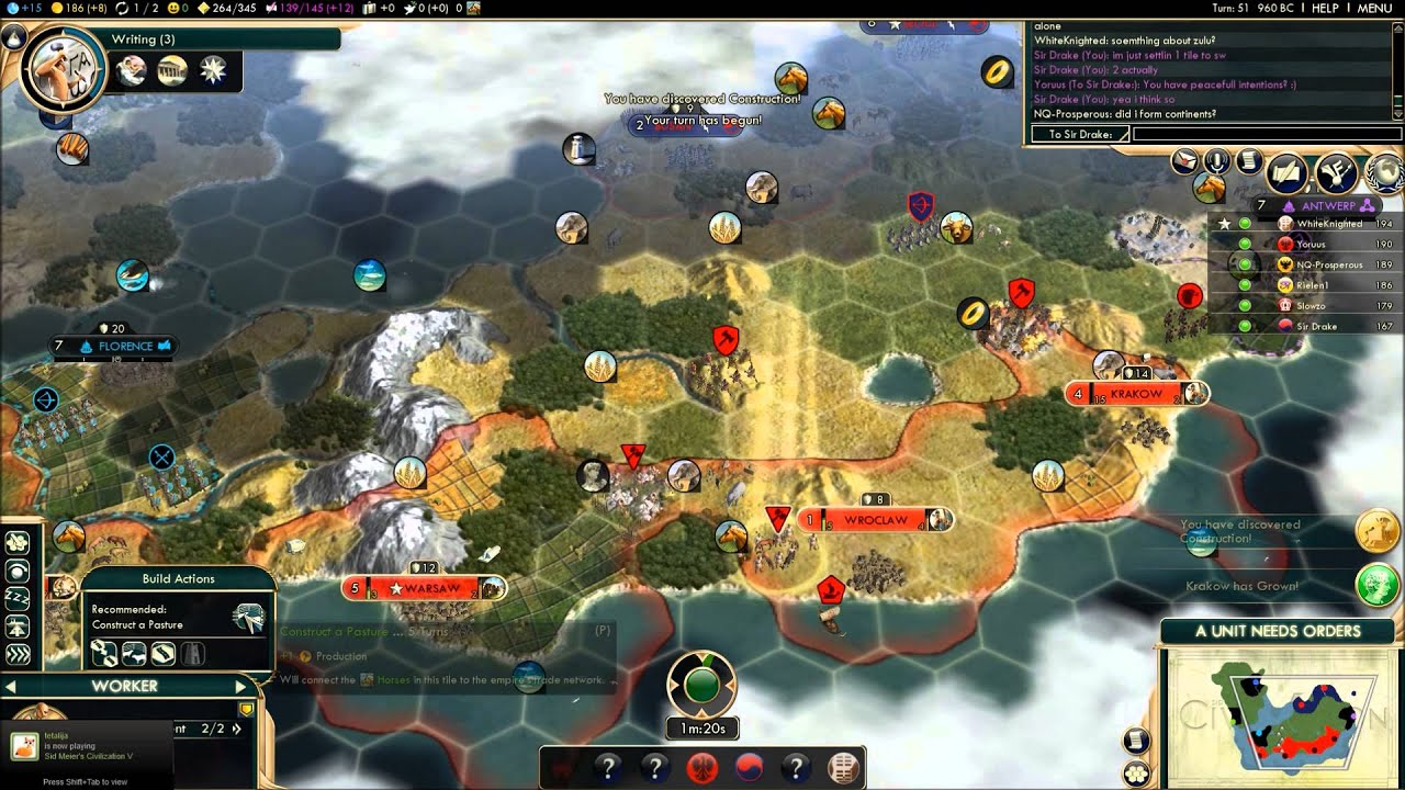 how to create a civ multiplayer game