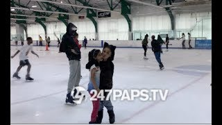 (EXCLUSIVE) Ariana Grande and Pete Davidson Ignore the Drama and go Ice Skating in NYC 07-06-18