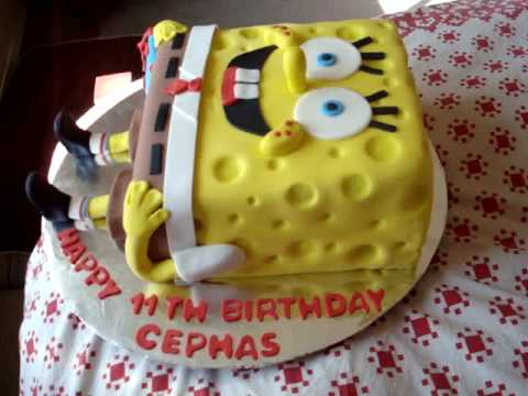 SpongeBob Square Pants Fondant Birthday Cake!