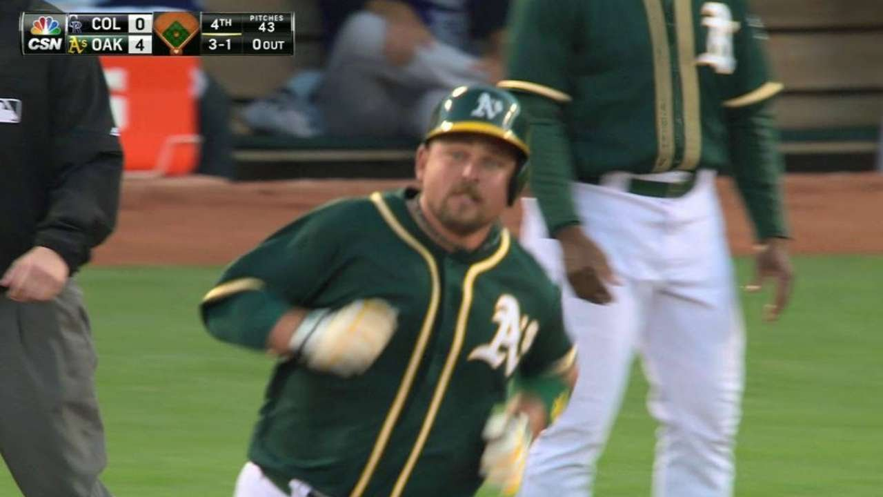 COL@OAK: Butler hammers solo shot to center field
