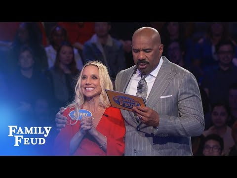WOW! Stephy wins Fast Money by ONE POINT!   Family Feud