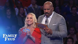 WOW! Stephy wins Fast Money by ONE POINT! | Family Feud