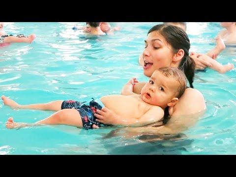 Baby Swim Lessons!! video