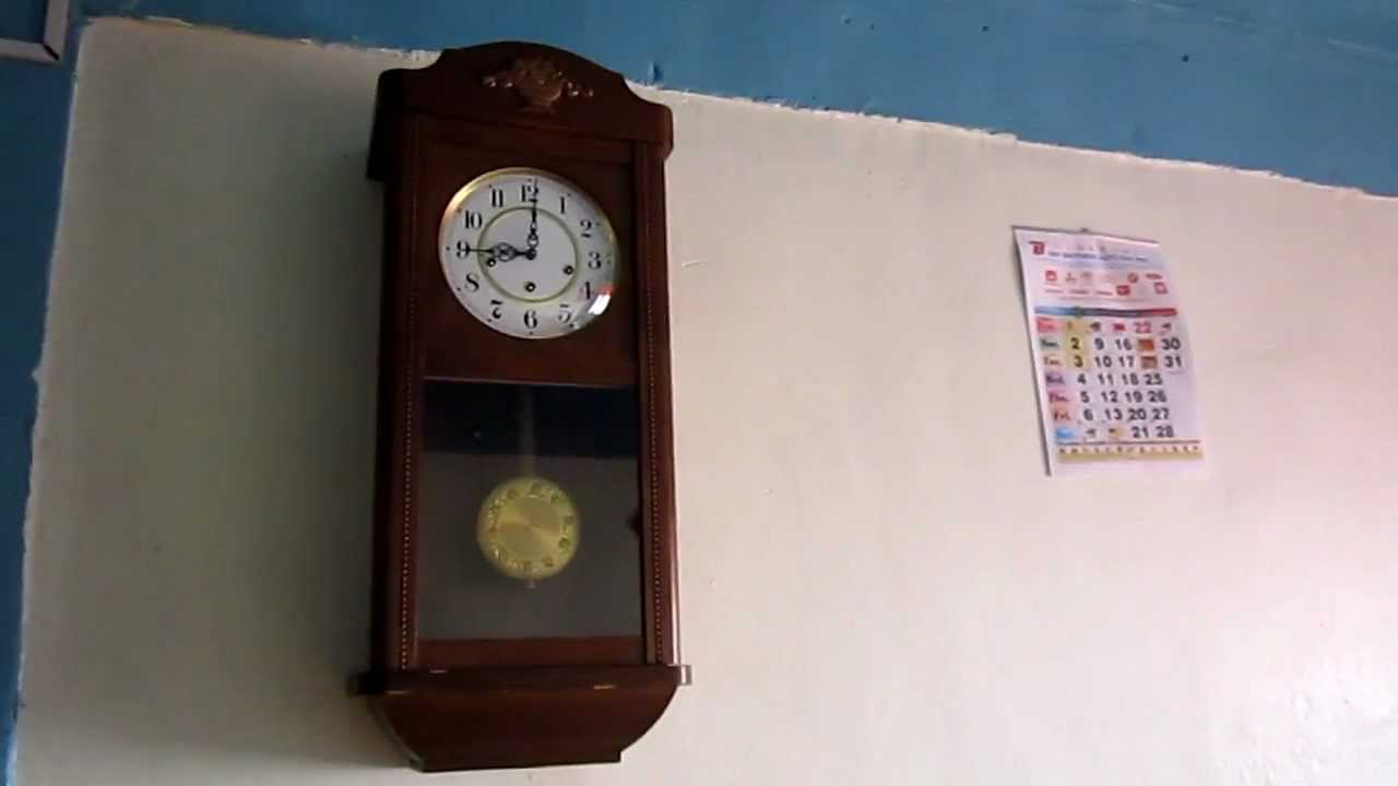 Chime Sign In >> Jauch Triple Chime Wall Clock Plays Whittington, St. Michael And Westminster - YouTube