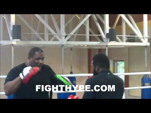 Adrien Broner Hits The Mitts During Training For Emmanuel Taylor Clash video