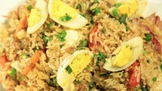 how to cook chicken fried rice in hindi