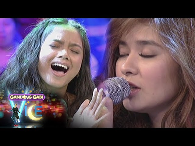 GGV: Loisa Andalio and Ylona Garcia sing on GGV stage