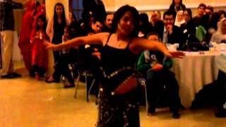 A young girl is dancing Arabic in Navroz, Guelph, Canada