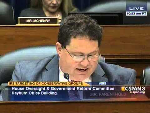 Rep. Farenthold Holds IRS, Treasury Officials Accountable for Targeting Conservative Groups