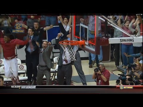 Alabama - Trevor Releford Half Court Game Winning Buzzer Beater against Georgia