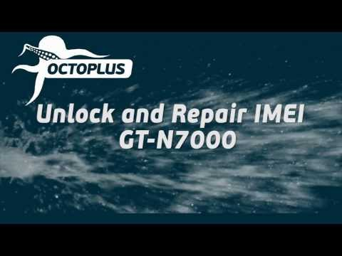 GT-N7000 (Galaxy Note) Unlock and Repair IMEI with Octoplus Box
