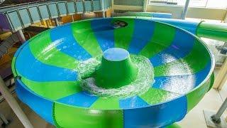 Aqualand Moravia - Super Crater || Funny Bowl Water Slide