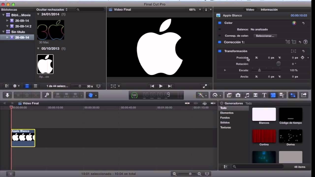 Final Cut Pro- Fotograma clave (zoom) - YouTube