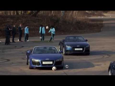 When football meets an Audi TT Roadster...