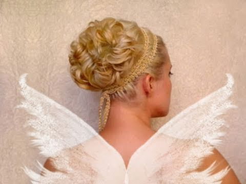 Wedding updo Curly prom hairstyles for short medium long hair tutorial Cute brid