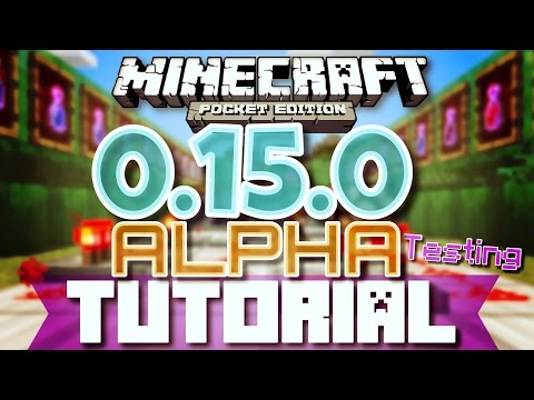 ✔️MCPE 0.15.0 ALPHA TUTORIAL + REVIEW   Minecraft Pocket Edition 0.15.0 ALPHA TESTING Tutorial