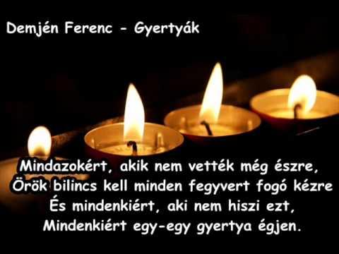 Demjén Ferenc - Gyertyák (dalszöveg)