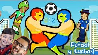 Soccer Physics vs Wrestle Jump   Futbol Loco y Luchas Locas   Juegos para niños