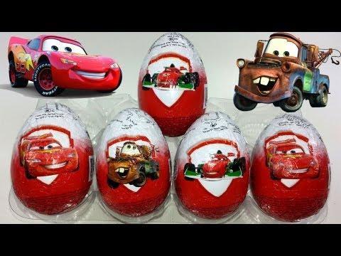 5 Disney Pixar Cars 2 Surprise Eggs Unboxing
