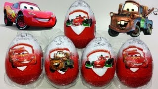 5 Disney Pixar Cars 2 Surprise Eggs Unboxing