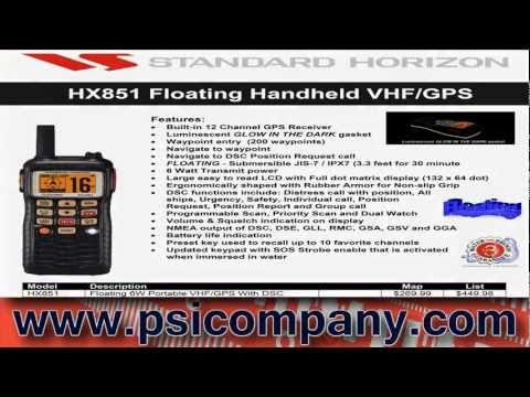 Standard Horizon VHF Portable Radio Products: 2011