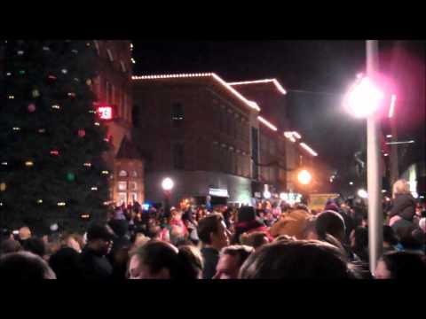 Christmas tree lighting in Cumberland.