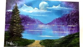 moon over lake for beginners