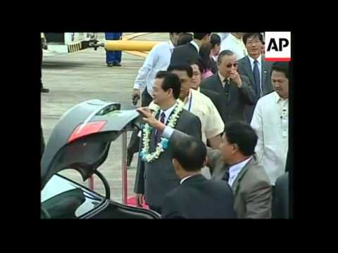WRAP Leaders arrive for ASEAN conference; protests as FMs meet