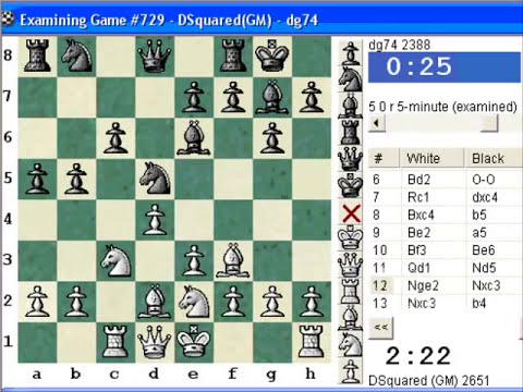 Chessworld.net : Blitz #285 vs. dg74 (2388) - French Defense : exchange variation (C01)