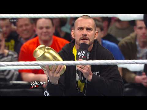 The Undertaker tries to reclaim Paul Bearer's urn from CM Punk: Raw, March 25, 2013