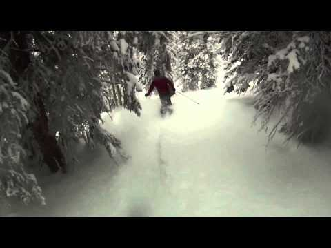 Powder Skiing in Steamboat Springs, Colorado Nov 29, 2010