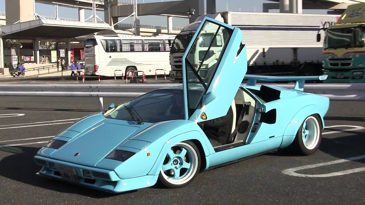 lamborghini countach lp5000qv loud exhaust sound youtube. Black Bedroom Furniture Sets. Home Design Ideas