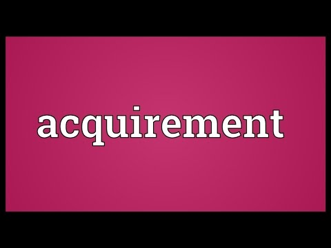 Header of acquirement