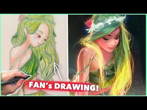 PAINTING A FAN'S DRAWING! :D