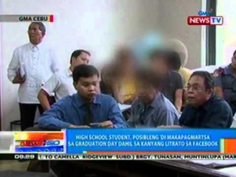 Ntg: Hs Student Sa Cebu, Posibleng 'di Makapagmartsa Dahil Sa Kanyang Litrato Sa Fb (032912) video