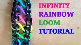 INFINITY Loom Bracelet Tutorial Rainbow Loom l JasmineStarler