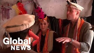 Prince William and Kate are treated to a song and dance in Chitral village