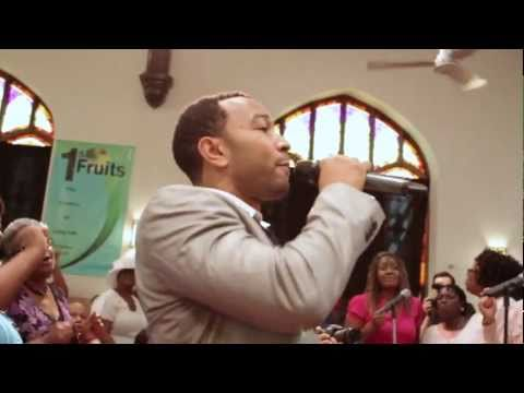 "John Legend surprises Baptist Church in West Philly (""How I Got Over"")"