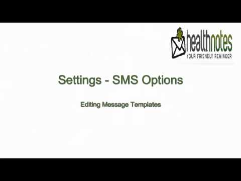 Settings - SMS Options