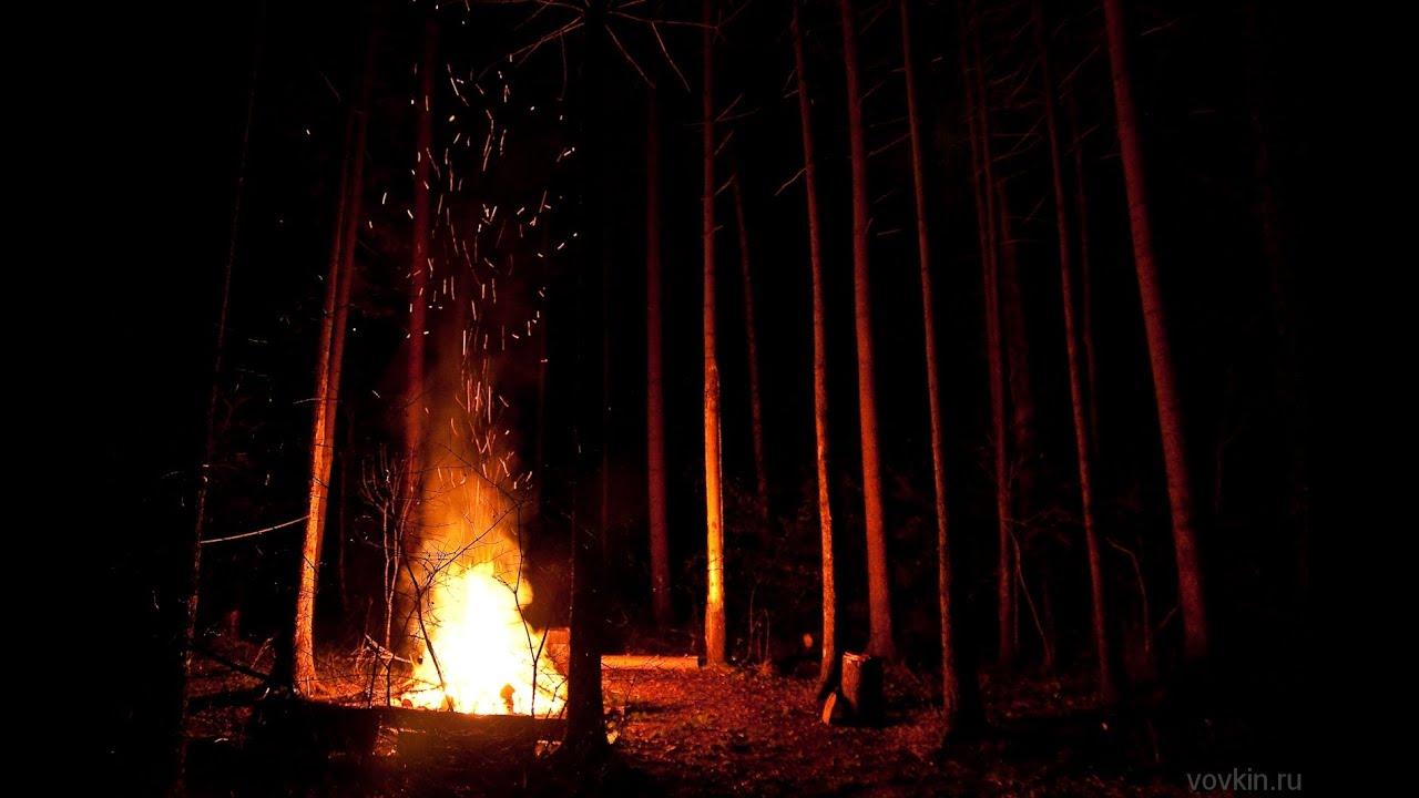 ночь костер картинки