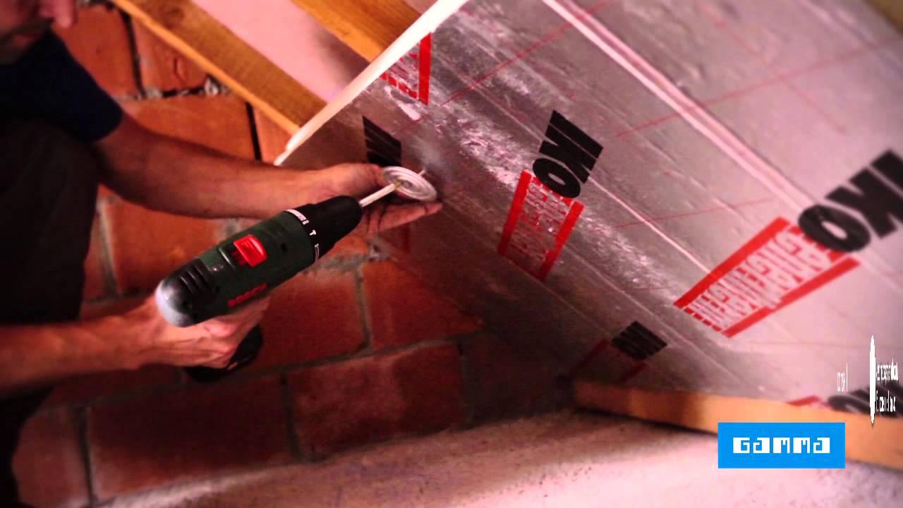 Isolation de toiture avec panneaux pir vid o bricolage gamma belgique y - Plaque bitume isolation phonique ...