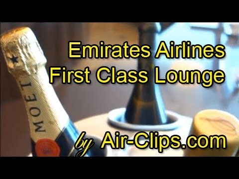 Emirates Airlines First Class Lounge Dubai: rare views inside temple of luxury! [AirClips]