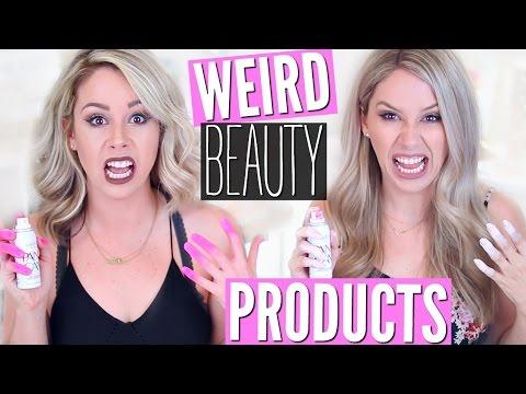 Trying Weird Beauty Products   Spray On Nail Polish FAIL?!