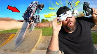 RC CAR DRIVING with VIRTUAL REALITY VR GOGGLES!!