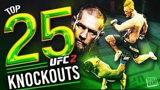 EA Sports UFC 2 - 25 Conor Mcgregor Knockouts!