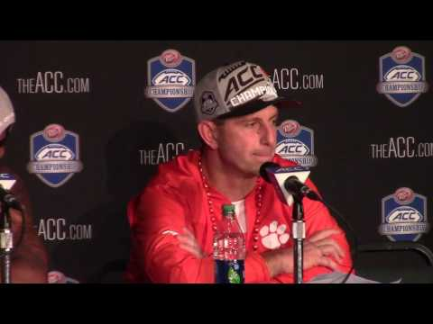 TigerNet.com - Dabo Swinney, Deshaun Watson ACC title postgame press conference