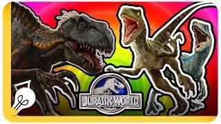 INDORAPTOR VS BLUE AND RAPTOR SQUAD - Jurassic World Evolution - Who Would Win?