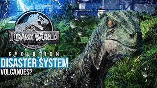 Weather Disasters In Jurassic World Evolution   Storms? Tornadoes? Volcanoes?